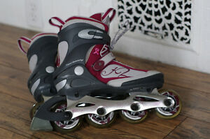 Ladies 7 roller blades in new condition