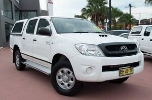 2010 Toyota Hilux KUN26R MY10 SR White 4 Speed Automatic Utility Rockdale Rockdale Area Preview