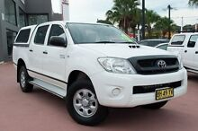 2010 Toyota Hilux KUN26R MY10 SR White 4 Speed Automatic Utility Kirrawee Sutherland Area Preview