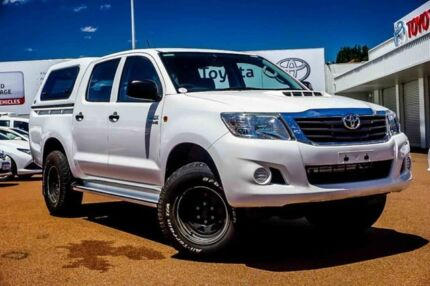 2013 Toyota Hilux KUN26R MY12 SR Double Cab White 4 Speed Automatic Utility