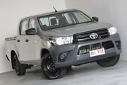 2017 Toyota Hilux TGN121R Workmate Double Cab 4x2 Silver 6 Speed Sports Automatic Utility Kedron Brisbane North East Preview