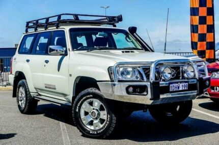 2010 Nissan Patrol GU VI TI (4x4) White 4 Speed Automatic Wagon