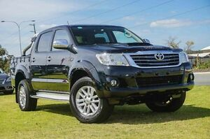 2014 Toyota Hilux KUN26R MY14 SR5 Double Cab Black 5 Speed Automatic Utility Wangara Wanneroo Area Preview
