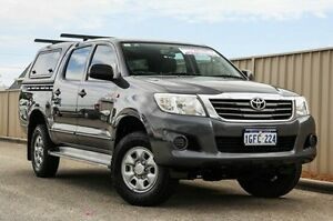 2012 Toyota Hilux GGN25R MY12 SR Double Cab Grey 5 Speed Automatic Utility Pearsall Wanneroo Area Preview