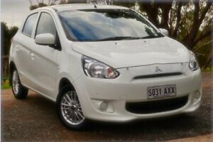 2013 Mitsubishi Mirage LA MY14 ES White 1 Speed Constant Variable Hatchback St Marys Mitcham Area Preview