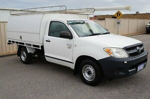 2007 Toyota Hilux TGN16R MY07 Workmate White 5 Speed Manual Cab Chassis Pearsall Wanneroo Area Preview