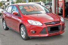 2014 Ford Focus LW MKII Trend PwrShift Red 6 Speed Sports Automatic Dual Clutch Hatchback Springwood Logan Area Preview
