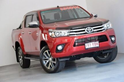2018 Toyota Hilux GUN126R SR5 Double Cab Red 6 Speed Sports Automatic Utility Indooroopilly Brisbane South West Preview
