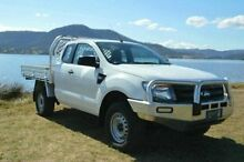 2012 Ford Ranger PX XL Super Cab White 6 Speed Manual Cab Chassis Derwent Park Glenorchy Area Preview