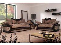 30 - days money back guarantee - brand new jumbo cord dino corner or 3 + 2 seater sofa set