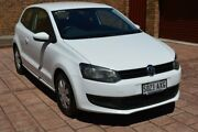 2011 Volkswagen Polo 6R MY11 Trendline White 5 Speed Manual Hatchback Stepney Norwood Area Preview