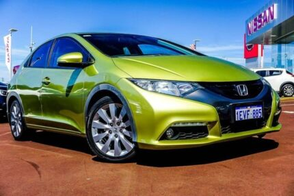 2013 Honda Civic 9th Gen MY13 VTi L Green 5 Speed Sports Automatic Hatchback