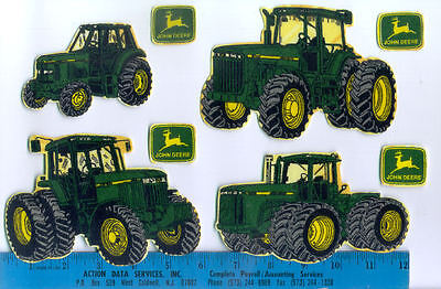 JOHN DEERE FABRIC wall stickers 8 pcs tractors peel & stick