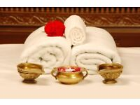 Indian massage 1hr for 45 with hot towel massage