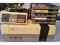 NES Nintendo Entertainment System Retro console 5 games mario duck hunt super 3 turtles chip n dale