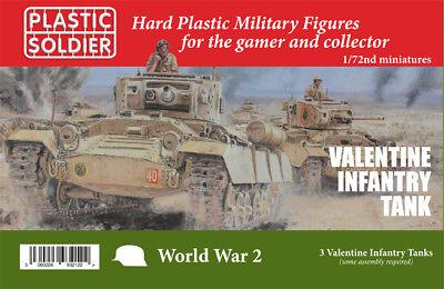 Valentine Tanque de Infantería 1/72 Escala - Plástico Soldado WW2V20028-P3