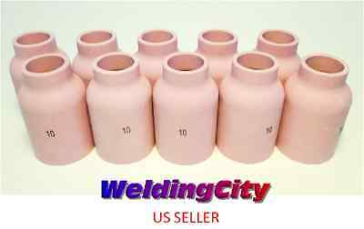 10-pk Tig Welding Large Gas Lens Ceramic Cup 53n88 10 Us Seller Fast Ship