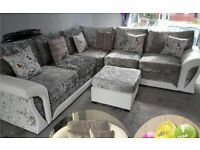 FACTORY-PACKED SHANNON CRUSH VELVET CORNER SOFA AND 3+2 SOFA SET AVAILABLE