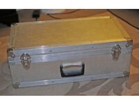 Metal hard case, padded lid and inner