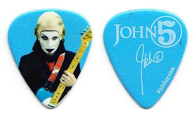 Rob Zombie John 5 Signature Photo Blue Guitar Pick - 2011-2012 Tour