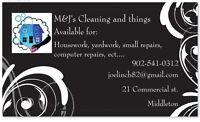 Cleaning and home repairs