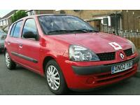 RENAULT CLIO 1.4 DIESEL. 2002. £30 TAX FOR AN YEAR.124000 MILES