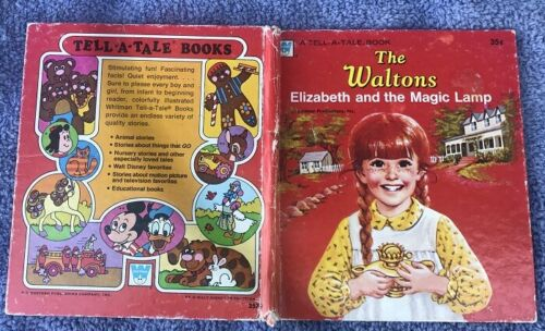 1975 WHITMAN TELL-A-TALE BOOK THE WALTONS ELIZABETH & THE MAGIC LAMP - EXCELLENT
