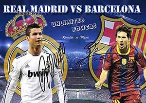 Lionel Messi Christiano Ronaldo Soccer Football Autograph Signed A4 Poster 2