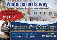 Winter Special Offer $199 (Complete Duct Cleaning)
