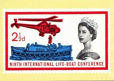 1985 SAFETY AT SEA EXHIBITION NATIONAL POSTAL MUSEUM SS 33 POSTCARD MINT