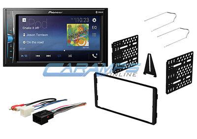 NEW PIONEER BLUETOOTH CAR STEREO W/ DIGITAL MEDIA RADIO W/ DASH KIT & HARNESS