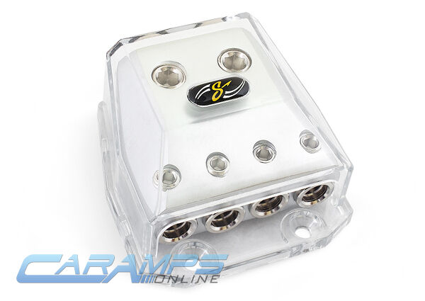 STINGER HPM POWER / GROUND 0/4 TO 4/8 GAUGE AWG CAR STEREO DISTRIBUTION BLOCK