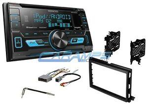 KENWOOD CAR STEREO W/ USB/AUX INPUTS & SIRIUS XM RADIO WITH DASH KIT & CD PLAYER