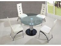Designer Marble And Glass Dining Table