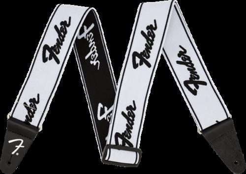 "Genuine Fender WeighLess 2"" Running Logo Elastic Guitar Stra"