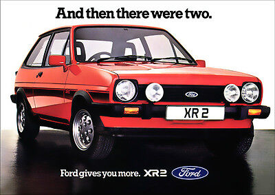 FORD FIESTA XR2 mk1 RETRO A3 POSTER PRINT FROM CLASSIC 80'S ADVERT