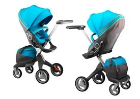 Limited edition Urban Blue Stokke v3 puschair