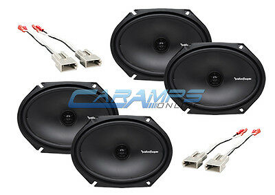 NEW ROCKFORD FOSGATE CAR/TRUCK STEREO FRONT AND REAR SPEAKERS W SPEAKER WIRING