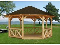 Corner/Pavilion Log Cabin