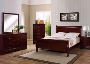 Brand new 8pc solid wood bed set