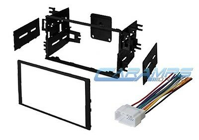 Double 2 Din Car Stereo Radio Dash Installation Mounting Kit W  Wiring Harness