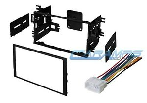 DOUBLE 2 DIN CAR STEREO RADIO DASH INSTALLATION MOUNTING KIT W/ WIRING HARNESS