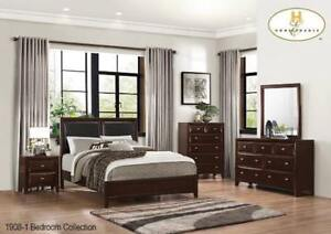 Dark Cherry Wooden Queen Bedroom Set on Sale (BD-2331)