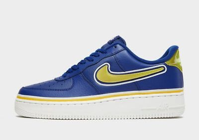 Nike Air Force 1 '07 LV8 Sport NBA Blue Leather & Yellow/Gold (UK 8) BNIB (Rare)