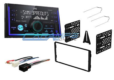 JVC BLUETOOTH CAR STEREO SIRIUS XM & USB/AUX INPUT RADIO W INSTALL KIT & HARNESS