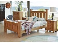 Double Bed Frame Solid Oak Really impressive quality **EX Display Model**