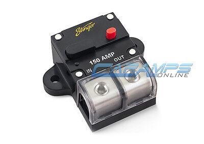 STINGER 0 OR 4 GAUGE 150 AMP CAR STEREO 12V INLINE POWER CIRCUIT BREAKER 150A