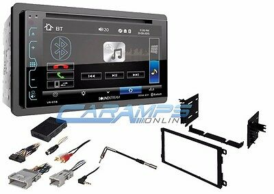 New Soundstream 6 2  Bluetooth Car Stereo W Install Kit Onstar   Bose   Swc