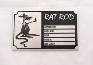 RAT ROD  VEHICLE ID  NUMBERS PLATE