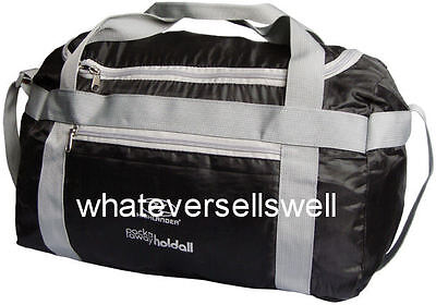Black 20ltr Packaway Holdall Bag Gym Sports Travel Holiday Pack Away